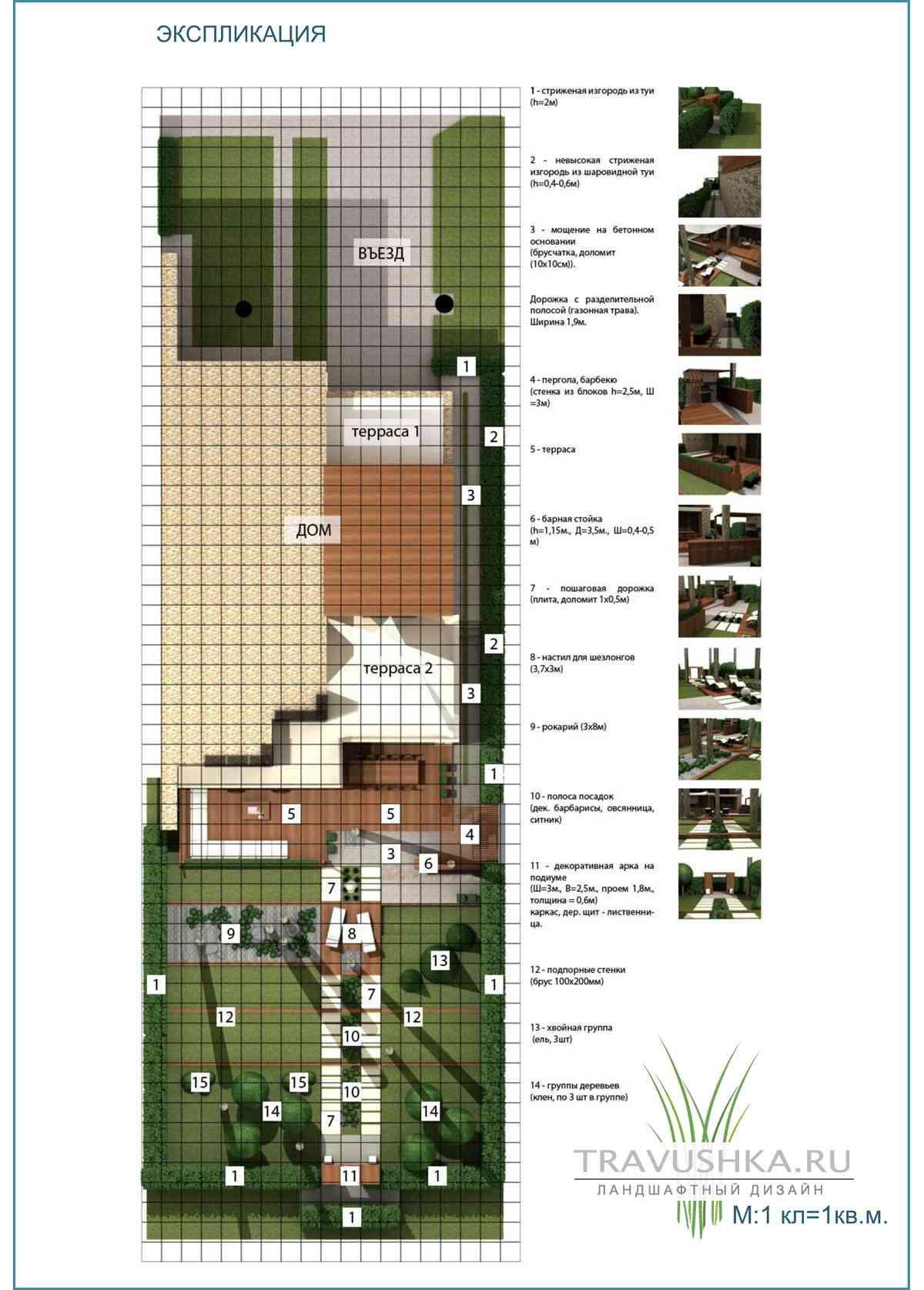 Дизайн проект участка с домом