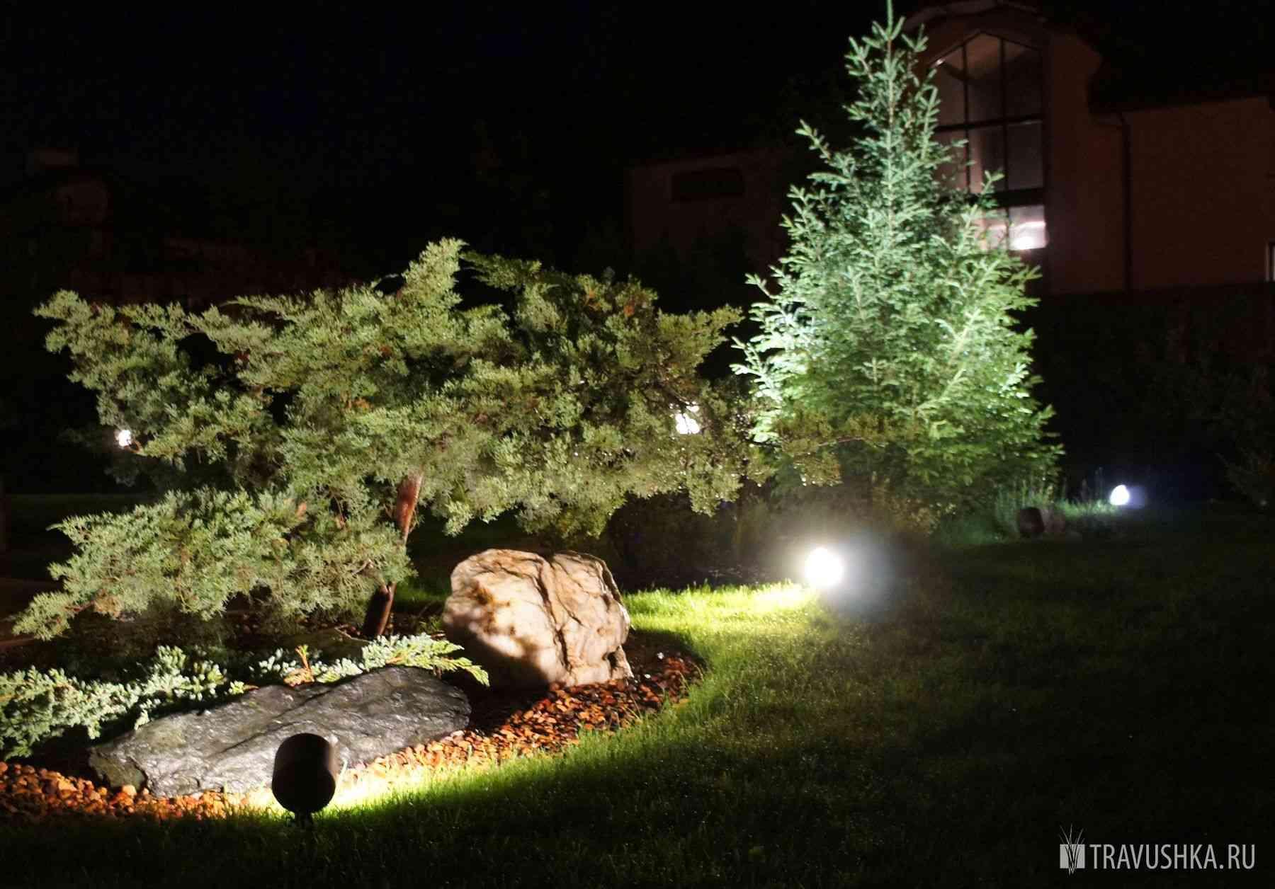ландшафтное освещение садового участка заказать услуги